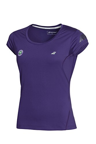 Babolat Oberbekleidung–Camiseta de Wimbledon, Hombre, T-Shirt Wimbledon Girls, Morado