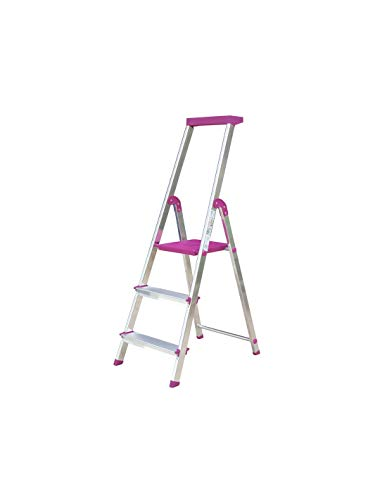 Escalera Rolser Aluminio BriColor 3 Peldaños - Malva