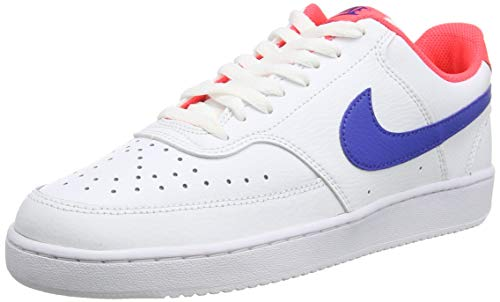 Nike Herren Court Vision Low Basketballschuh, White Game Royal Flash Crimson, 46 EU