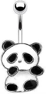 panda bear belly rings