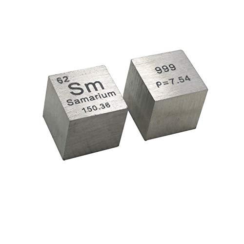 VIEUR Metal Cubo de samario SM≥99.9% Cubo de Elemento de Tabla periódica 10mm 7.45g