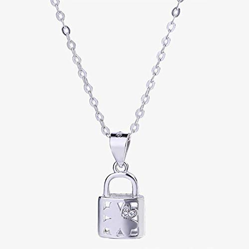 GTYHJUIK Hart-halsketting met lange ketting, voor dames, slot met sleutels, oorbellen, punk, hip hop, modesieraad, gothic