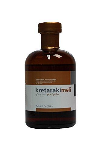 Tsikoudia Kretaraki 500ml, mit Honig Rakomelo, aus Kreta, griechischer Trester Tresterbrand Griechenland