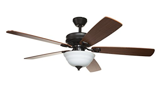 Hyperikon 52 Inch Ceiling Fan with Remote Control, Brown...
