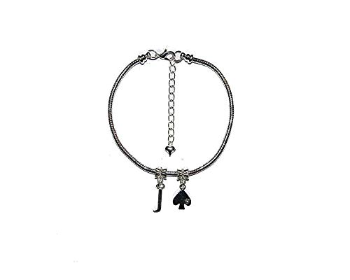 Slave 'Jack Of Spades' Euro Anklet Ankle Chain Sub Submissive Sissy Gay Style 1 - Sexy Jewels