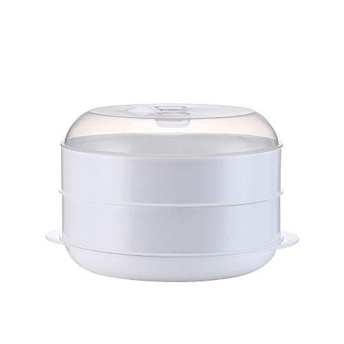 Dampfgarer Mikrowelle Gemüsedampfer Instant Pot Zubehör Dampfgarer Korb Multi Kocher - Küchengeräte Dampfgarer Für Mikrowellenherd 26.5 * 16CM/Weiß