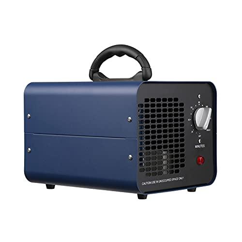 Romacci Gerador de ozônio comercial com função de retenção do temporizador 10000mg/h Ozonizador de aço inoxidável Máquina de limpeza industrial Purificador de ar compacto Purificador de ar 110V Plug US