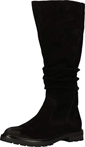 MARCO TOZZI Damen 2-2-25622-25 Wildleder Langschaftstiefel Kniehohe Stiefel, Black, 40 EU