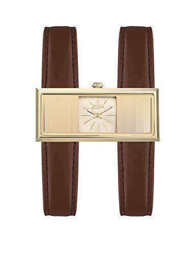Jean-Paul Damen-Armbanduhr Leder Braun