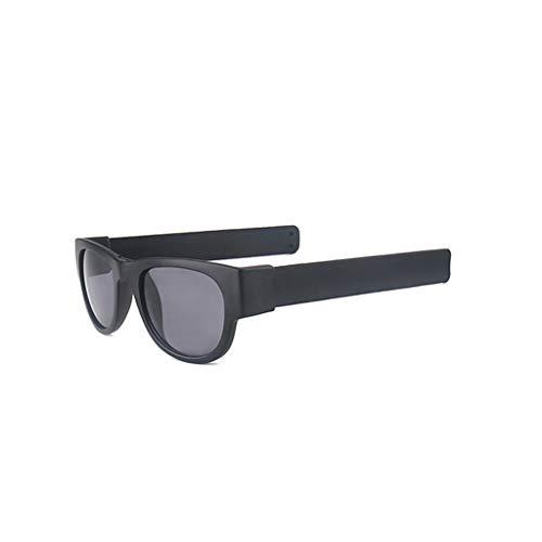 Bascar Gafas de sol plegables para actividades al aire libre como ciclismo, correr, escalada, correr, pesca, diseño de pulsera plegable. 2 Talla única