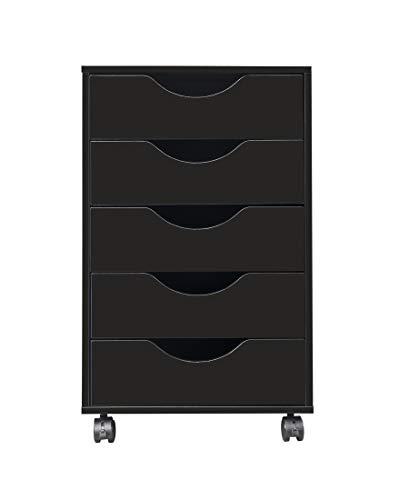 Office Steel 5 Drawer Filing Cabinet Rolling Storage File School Grey Metal P6X9