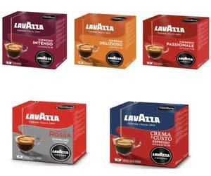 Lavazza 180 Capsule caffè Modo Mio degustazione 36 x 5 (36 Passionale, 36 Crema e Gusto, 36 Delizioso, 36 Intenso, 36 qualità Rossa)