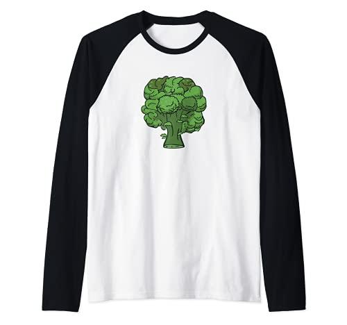 Brcoli Forever - Disfraz de verdura divertida y saludable Camiseta Manga Raglan