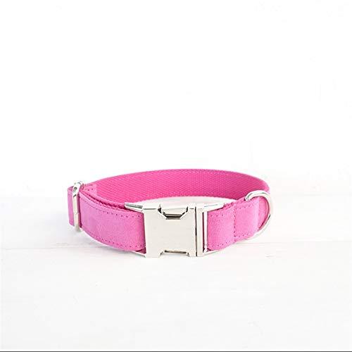 YXZQ Collar para Perros al Aire Libre Información:Característica:Nota: For Dog Decoration (Color : Pink Suede, Size : Customized)