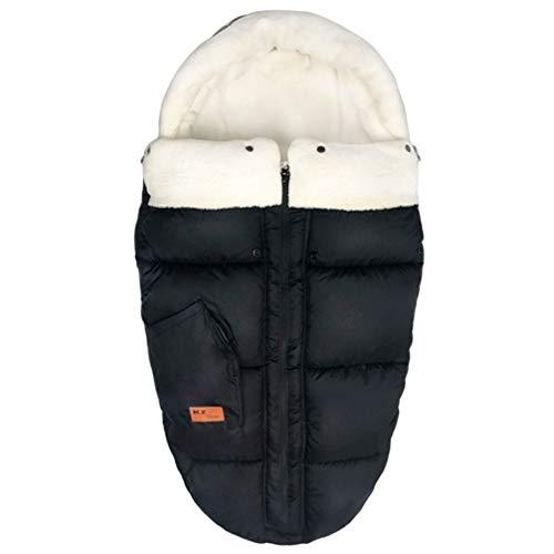 KZ Dotnz Universal Stroller Footmuff Sack, Front Panel Removeable Multifunction Stroller Bunting Bag, Cosy Toes Fleece Lined Stroller Sleeping Bag Fit for Most Stroller, Pram, Jogger, Pushchair