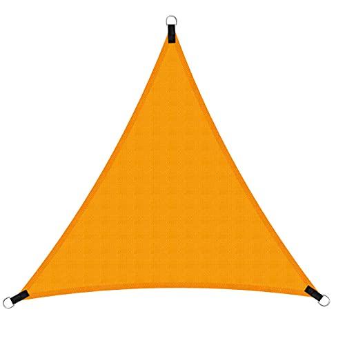 Sooair Vela Ombreggiante - 3x3x3 m Tenda a Vela Triangolare, Vela Parasole Triangolare Impermeabile Protezione Raggi UV Antistrappo per Giardino, Esterno, Terrazza, Campeggio (Arancia)