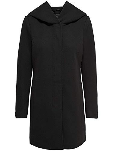 ONLY Damen Mantel Jacke SEDONA LIGHT COAT Parka Übergang Frühling (XS, schwarz (Black))