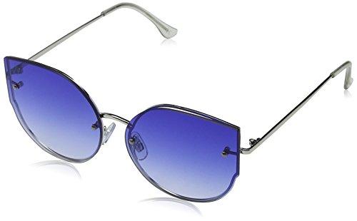Jeepers Peepers Damen JP-1809 Sonnenbrille, Blau (Silver/Blue), 58