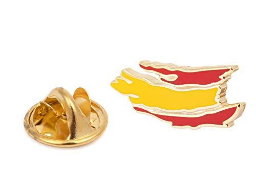 Gemelolandia | Bandera de España Pin de Solapa Pin de Traje con la Bandera de España | Pines Originales Para Regalar | Para las Camisas  la Ropa o para tu Mochila | Detalles Divertidos