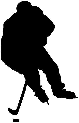 Samunshi® Autoaufkleber Eishockeyspieler Aufkleber in 8 Größen und 25 Farben (6,3x10cm schwarz)