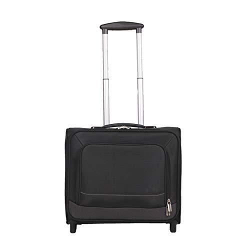 Nosterappou Elegante y sencilla maleta, maletas para hombres y mujeres, caja de latón Oxford, rueda universal, maleta, maleta pequeña, personalidad elegante, ruedas ultra silenciosas, alta absorción d