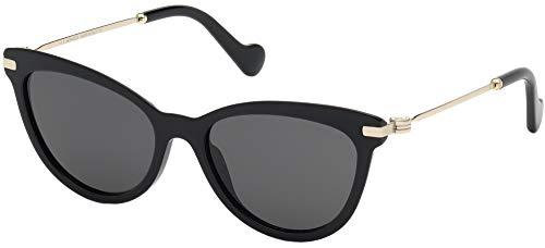 Moncler ML0080 SHINY BLACK/DARK GREY 54/17/140 Unisex Sonnenbrillen