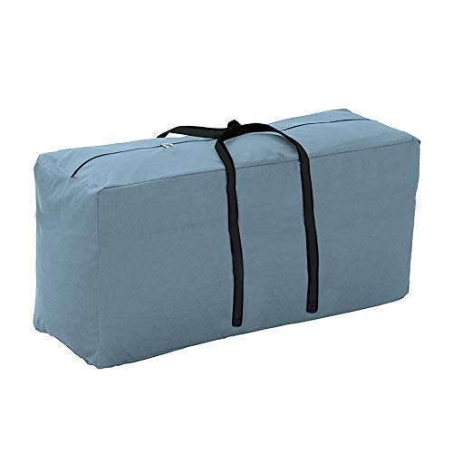 Yolaka Outdoor Patio Furniture Seat Cushions Storage Bag with Zipper and Handles 116x47x51 Waterproof Grey