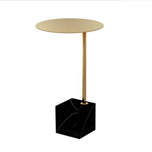L.TSA Tavolini da Salotto Tavolini da Salotto Rotondi Tavolini da caffè in Marmo Tavolini da tè Tavolini Estraibili per Ufficio a casa (Colore: Oro 1)