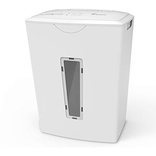 HYCy Aktenvernichter,tragbar Desktop Aktenvernichter Büro Zuhause Mini Maschine (Farbe: Weiß, Größe: 19,2 x 13,7 x 25,6 cm)