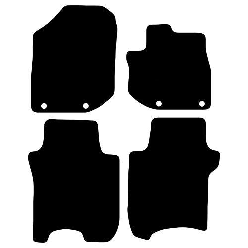 Carsio Carp-Cut-3283-(80 x 4) maßgeschneiderte Schwarze Teppich-Fußmatten für Honda Jazz 2011 bis 2015-4-teiliges Set