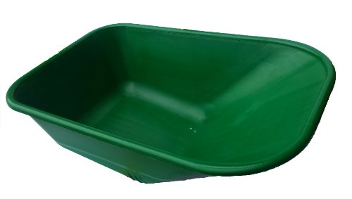 BURGUNDY Replacement Wheelbarrow Plastic Body Barrow 110 Litre NO HOLES
