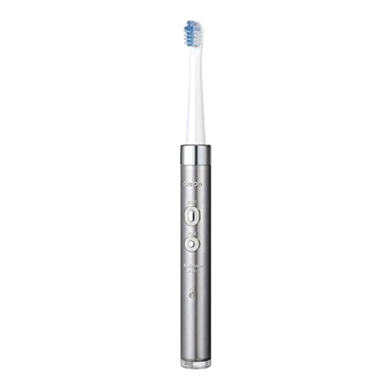 プレゼント覚醒篭オムロンヘルスケア 音波式電動歯ブラシ HT-B312-SL シルバー