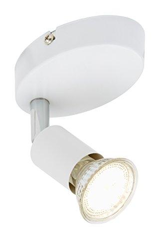 Briloner Leuchten 2767-016 Applique LED, plafonnier, Spots, Lampe Salon, orientable, Métal, GU10, 3 W, Blanc, 10.5 x 6.5 x 8 cm