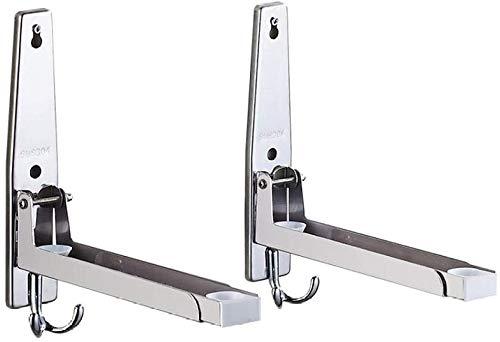 DX Muurbeugel met telescopische arm, verstelbare opklapbare beugel - Roestvrij stalen beugel met schroef voor keukenplaten/lading 60 kg, zilver