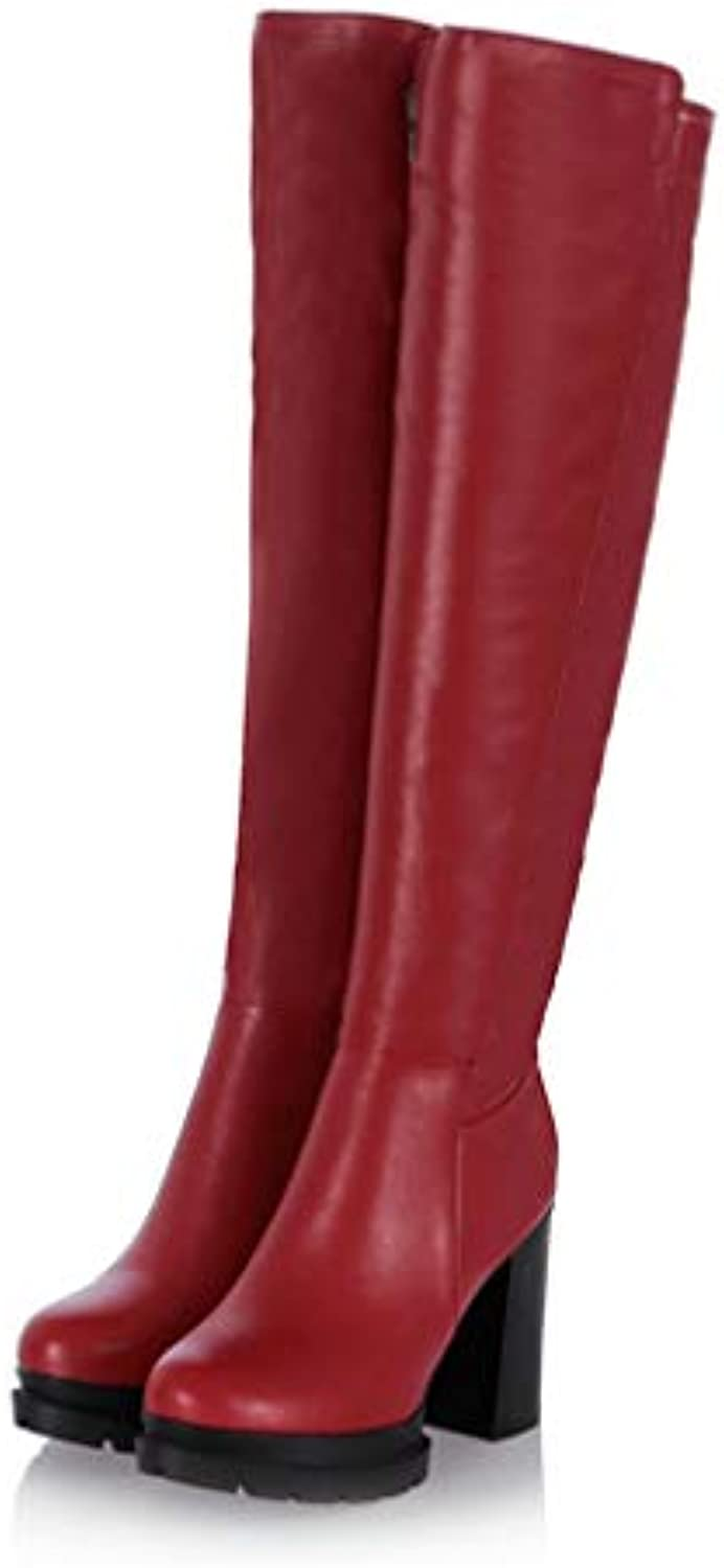 T-JULY New Women Over-The-Knee Boots Female Winter Fashion High Heels Casual Long Boots