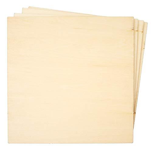 Bright Creations - Láminas finas de madera contrachapada cuadradas para quemar madera, 8 unidades