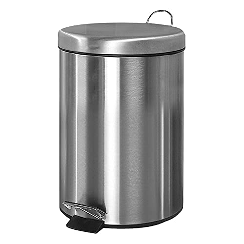 Hong Yi Fei-Shop mülleimer R&er Edelstahl-Mülleimer, gebürsteter Edelstahl-Stufenkanal, Pedal-Müll-Container-Behälter, Mülleimer für Zuhause/Büro mülleimer küche