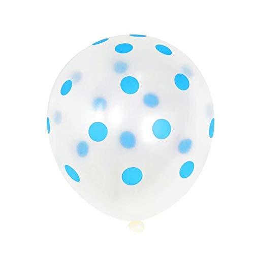 DAPANGZI 100 Piezas 12 Pulgadas Globos De Lunares De Látex para Fiesta Boda Cumpleaños Casarse Decoración Al por Mayor Suministros De Decoración De Globos