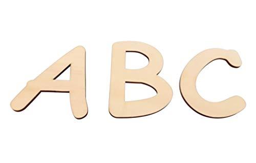 kreativ-design24 Holzbuchstaben 10cm |Kinderzimmer Deko | Wand Deko |Tür Deko | Tolle Bastelidee