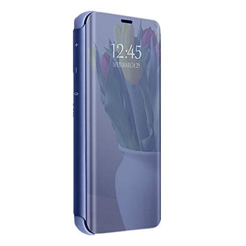 Funda compatible con Huawei Honor 8 Lite, carcasa rígida de policarbonato translúcido, funda para teléfono móvil, función atril, ultrafina, antiarañazos, antigolpes. azul Talla única