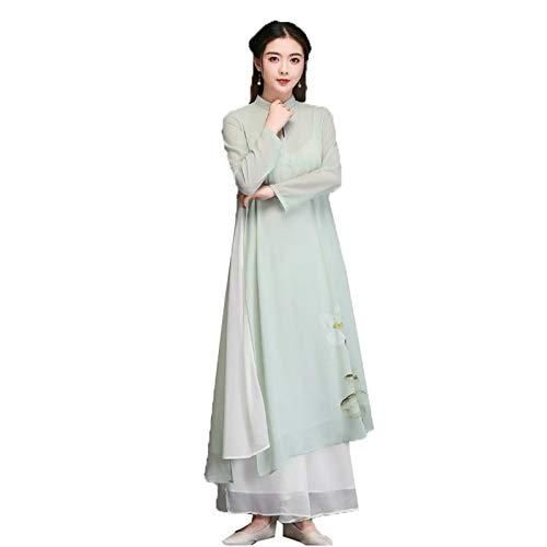 Vestido de mujer Cheongsam Hanfu conjunto de trajes de danza oriental princesa nacional vintage 2 piezas traje Tang vestido