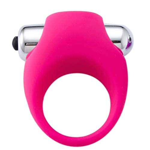 CXQ yogamatte,Toy Beweglicher Silikon Vibration Ring Bullet Time Delay Lock Feine Vibration Sleeve for Herren-Hosen T-Shirt (Color : Rose red)