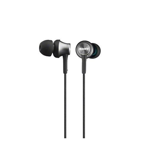Sony MDR-EX450AP - Auriculares internos con micrófono (Rango de frecuencia 5-25000 Hz, sensibilidad 103 db/mW, potencia 100 mW, carcasa de aluminio), gris