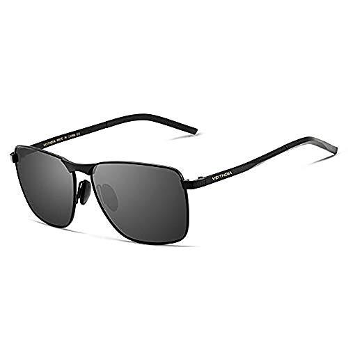 VEITHDIA Gafas de sol retro cuadradas anti-UV de los hombres de la marca gafas UV400 polarizadas accesorios accesorios gafas de sol de los hombres/mujer V2462