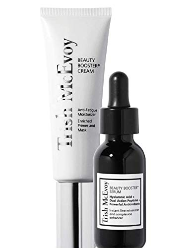 Trish McEvoy Beauty Booster Serum And Cream Duo Includes Jumbo Beauty Booster Serum 2 Ounce And Beauty Booster Anti-Fatigue Cream 1.8 Ounce