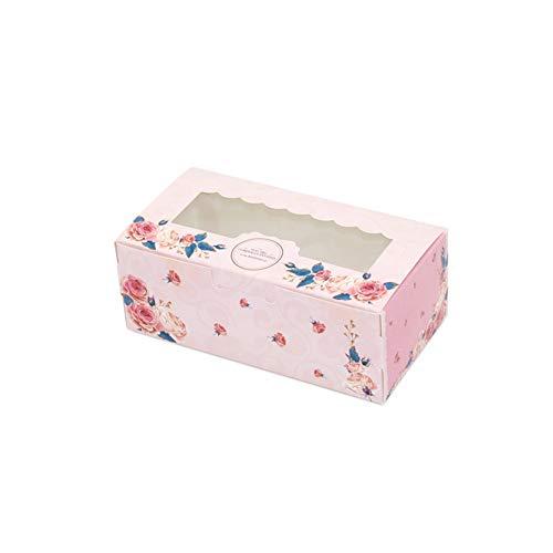 Caja de regalo 10 piezas con ventana se Cupcake Packaging Galletas de...