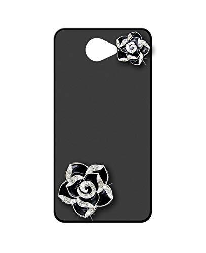 Sunrive Funda para Samsung Galaxy A3 2016, Brillo Bling Rhinestone Crystal Silicona Mate Slim Fit Gel 3D Carcasa Case Bumper de Impactos y Anti-Arañazos Espalda Cover(Flor Negra)