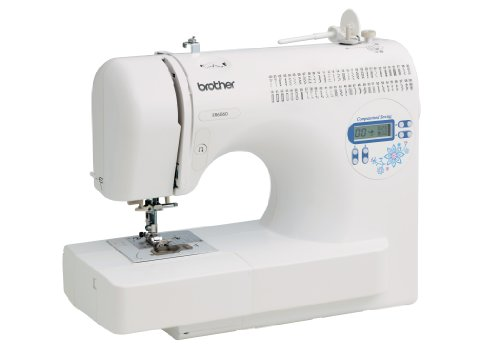 Brother XR6060 Computerized Sewing Machine, 60 built-in stitches, 7 styles of 1-step auto-size buttonholes