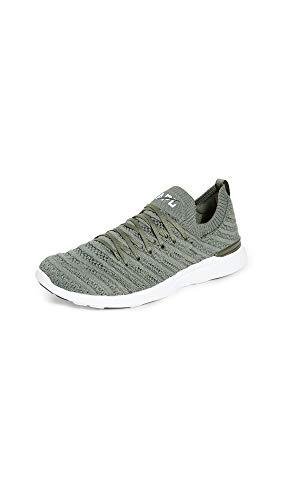 APL: Athletic Propulsion Labs Women's Techloom Wave Sneakers, Fatigue/White, 5 Medium US