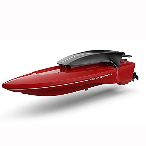 ADSVMEL Lancha rápida de 2.4GHZ RC, Impermeable, Recargable, de Doble Motor para Lago, Piscina, Estanque, Juguete de Agua para niños, Modelo de simulación